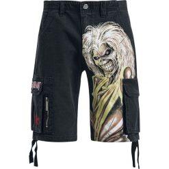 Iron Maiden EMP Signature Collection Krótkie spodenki czarny. Czarne spodenki i szorty męskie Iron Maiden, z aplikacjami, vintage. Za 164,90 zł.