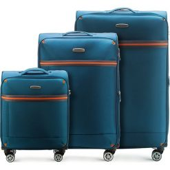 Zestaw walizek 56-3S-49S-95. Niebieskie walizki Wittchen, duże. Za 564,51 zł.