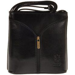 Torebki klasyczne damskie: Skórzana torebka w kolorze czarnym – 18 x 18 x 7 cm