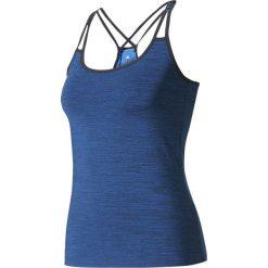 Adidas Koszulka Strappy Bra Tank granatowa r. XS. Niebieskie topy sportowe damskie Adidas, xs. Za 118,82 zł.