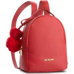 Plecak LOVE MOSCHINO - JC4323PP06KW0500  Rosso. Czerwone plecaki damskie marki Love Moschino, ze skóry ekologicznej, eleganckie. Za 719,00 zł.