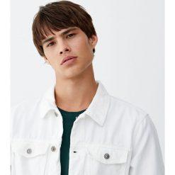 Biała kurtka jeansowa. Niebieskie kurtki męskie jeansowe marki Reserved, l. Za 82,90 zł.