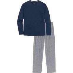 Piżama bonprix ciemnoniebiesko-szary melanż. Szare piżamy męskie bonprix, l, melanż. Za 49,99 zł.