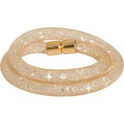 Bransoletki damskie: Bransoletka w kolorze złotym ze szklanymi kryształkami