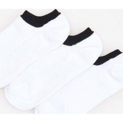Kapcie męskie: 3 pack stopek – Biały