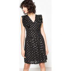 Sukienki hiszpanki: Sukienka rozszerzana, rozkloszowana, graficzny wzór, krótka