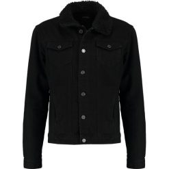 Kurtki męskie bomber: Burton Menswear London BORG COLLAR Kurtka jeansowa black