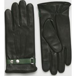 Calvin Klein - Rękawiczki skórzane. Czarne rękawiczki męskie Calvin Klein, z materiału. Za 349,90 zł.