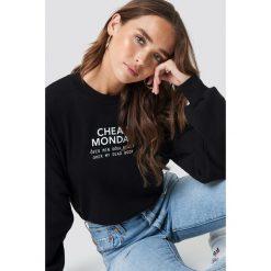 Cheap Monday Bluza Get Sweater - Black. Czarne bluzy rozpinane damskie Cheap Monday, z nadrukiem. Za 181,95 zł.