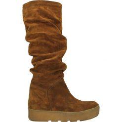 Kozaki - DEMY4 CRO TAB. Brązowe buty zimowe damskie marki Venezia, ze skóry. Za 249,00 zł.