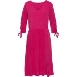 Sukienki: Sukienka z marszczeniami bonprix ciemnoróżowy