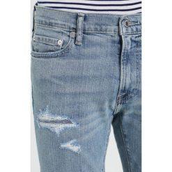 Abercrombie & Fitch LIGHT DESTROY Jeansy Slim Fit blue. Niebieskie rurki męskie Abercrombie & Fitch. W wyprzedaży za 327,20 zł.