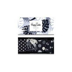 Giftbox (4-pak) skarpetki Happy Socks XBLW09-9002. Czarne skarpetki męskie Happy Socks. Za 83,93 zł.