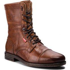Kozaki LEVI'S - 228740-700-27 Medium Brown. Brązowe botki męskie Levi's®, z materiału. W wyprzedaży za 429,00 zł.