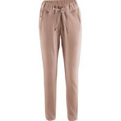 Spodnie dresowe damskie: Spodnie dresowe Boyfriend, z kolekcji Maite Kelly bonprix szaro-brązowy