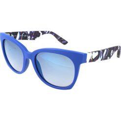 """Okulary przeciwsłoneczne damskie aviatory: Okulary przeciwsłoneczne """"0001/S XJM/DK"""" w kolorze niebieskim"""