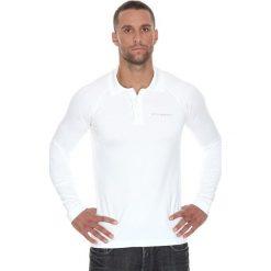 Brubeck Koszulka męska polo Prestige z długim rękawem biała r. L (LS10620). Białe koszulki polo marki Brubeck, l, z długim rękawem. Za 215,89 zł.