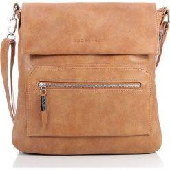 Listonoszka damska torebka Bag Street na ramię. Brązowe listonoszki damskie marki Bag Street, w paski, ze skóry, na ramię. Za 99,00 zł.