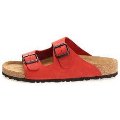 Skórzane klapki w kolorze czerwonym. Szare klapki damskie marki Marco Tozzi. W wyprzedaży za 219,95 zł.