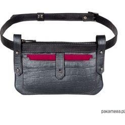 Skórzana damska torebka typu nerka. Szare torebki klasyczne damskie Pakamera, ze skóry. Za 399,00 zł.