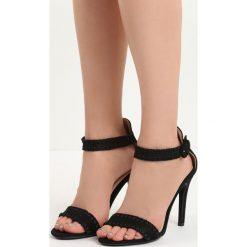 Czarne Sandały Holy Grail. Czarne sandały damskie Born2be, w paski, na wysokim obcasie, na stożku. Za 69,99 zł.