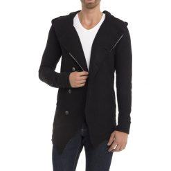 Swetry męskie: Kardigan w kolorze czarnym