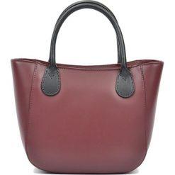 Torebki i plecaki damskie: Skórzanan torebka w kolorze bordowym – (S)20,5 x (W)29 x (G)9 cm