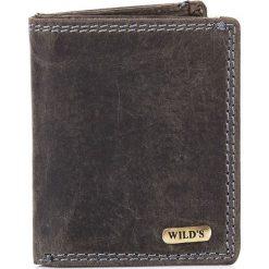 Portfele męskie: Skórzany Mały portfel męski DUKE czarny