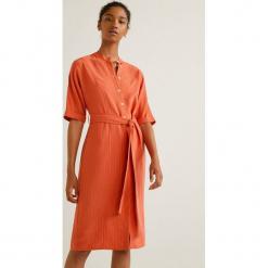 Mango - Sukienka Agnes2. Szare sukienki mini marki Mango, na co dzień, l, w paski, z lyocellu, casualowe, z okrągłym kołnierzem, z krótkim rękawem, proste. Za 199,90 zł.