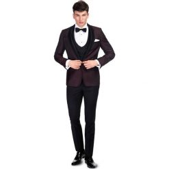 Garnitur ślubny LIVIO GAAS000098. Czarne garnitury Giacomo Conti, paisley, z wełny. Za 2199,00 zł.