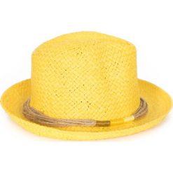 Kapelusz damski Natural vintage  zółty. Czarne kapelusze damskie marki BIG STAR, z gumy. Za 37,60 zł.