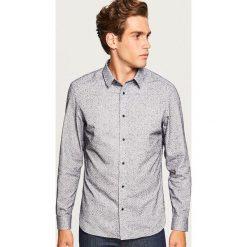 Koszula regular fit ze strukturalnej tkaniny - Szary. Szare koszule męskie na spinki marki House, l, z bawełny. Za 119,99 zł.