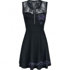 Outer Vision Lilly Misere Roses Sukienka czarny. Czarne sukienki koronkowe marki Outer Vision, na imprezę, xxl, w ażurowe wzory, z dekoltem na plecach, oversize. Za 99,90 zł.