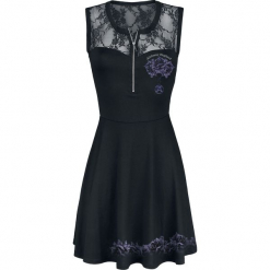 Outer Vision Lilly Misere Roses Sukienka czarny. Czarne sukienki koronkowe Outer Vision, na imprezę, l, w ażurowe wzory, z dekoltem na plecach. Za 99,90 zł.