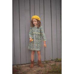 Sukienka VINTAGE FLOWER. Niebieskie sukienki dziewczęce w kwiaty Pakamera, z bawełny, eleganckie. Za 149,00 zł.