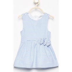 Bawełniana sukienka bez rękawów - Biały. Białe sukienki dziewczęce marki Reserved, z bawełny, bez rękawów. W wyprzedaży za 29,99 zł.