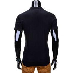 KOSZULKA POLO MĘSKA BEZ NADRUKU S664 - CZARNA. Czarne koszulki polo Ombre Clothing, m, z nadrukiem, z bawełny. Za 35,00 zł.
