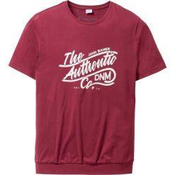 T-shirty męskie: T-shirt ze specjalnym krojem na wys. brzucha Regular Fit bonprix bordowy
