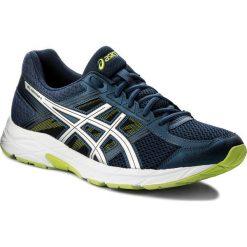 Buty ASICS - Gel-Contend 4 T715N Dark Blue/Silver/Safety Yellow 4993. Niebieskie buty do biegania męskie Asics, z materiału. W wyprzedaży za 199,00 zł.