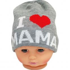 Czapka niemowlęca z napisem mama CZ 161A. Szare czapeczki niemowlęce Proman, z napisami. Za 30,75 zł.