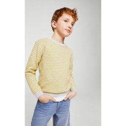 Mango Kids - Sweter dziecięcy Viti 110-164 cm. Szare swetry chłopięce Mango Kids, z bawełny, z okrągłym kołnierzem. Za 79,90 zł.