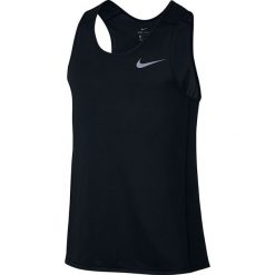 Koszulki do fitnessu męskie: koszulka do biegania męska NIKE DRI-FIT MILER TANK / 833589-010 - NIKE DRI-FIT MILER TANK