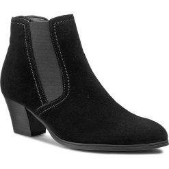 Botki GABOR - 31.684.17 Czarny. Czarne buty zimowe damskie marki Gabor, z materiału, na obcasie. W wyprzedaży za 299,00 zł.