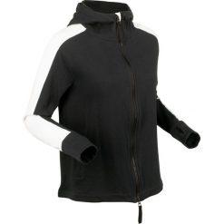 Bluza bawełniana rozpinana, długi rękaw bonprix czarny. Czarne bluzy rozpinane damskie bonprix, z bawełny, z długim rękawem, długie. Za 109,99 zł.