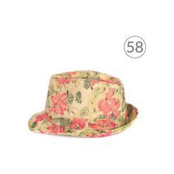 Kapelusze damskie: Art of Polo Kapelusz damski Kwietny styl różowo beżowy r. 58