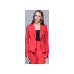 Klasyczny elegancki żakiet czerwony  H020. Szare marynarki i żakiety damskie Harmony, xxl, biznesowe. Za 199,00 zł.