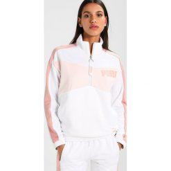 Bluzy damskie: Puma ARCHIVE HALFZIP CREW Bluza peach beige