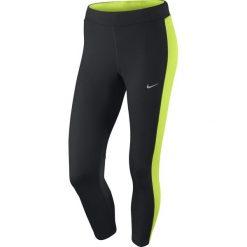 Legginsy do biegania damskie 3/4 NIKE DRI-FIT ESSENTIAL CROP / 667623-011 - spodnie do biegania damskie 3/4 NIKE DRI-FIT ESSENTIAL CROP. Czarne legginsy sportowe damskie Nike. Za 79,00 zł.