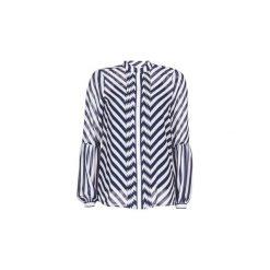 Koszule MICHAEL Michael Kors  BIAS STRIPE PLT SHR. Niebieskie koszule nocne i halki MICHAEL Michael Kors, l. Za 591,20 zł.