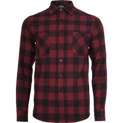 Urban Classics Checked Flannel Shirt Koszula czarny/burgund. Czarne koszule męskie na spinki marki Urban Classics, s, z materiału, z koszulowym kołnierzykiem, z długim rękawem. Za 121,90 zł.